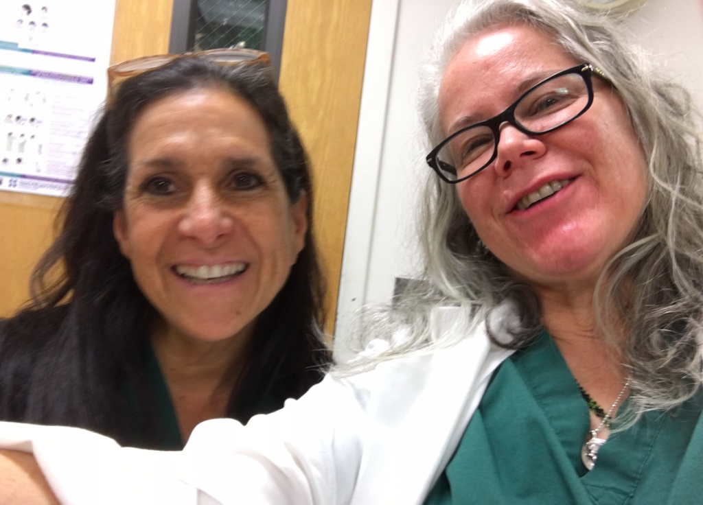 Trishat Newark Beth Israel Hospital with Maryanne Markowski, CNM, Director of Midwifery during her Midwifery Refresher in 2017